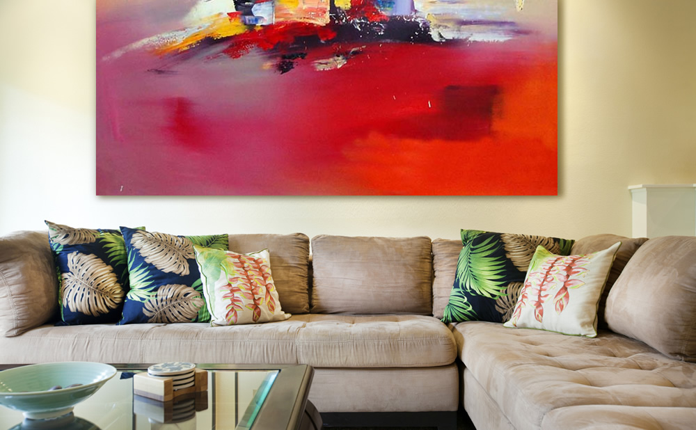 Decoration with abstract painting