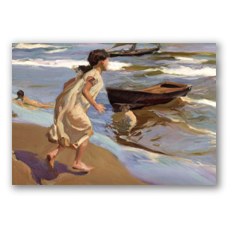 Girl Going to Bathe